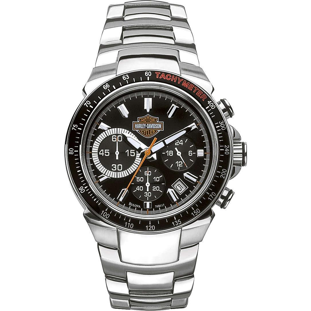 montre chronographe homme Harley Davidson 78B113
