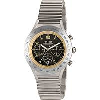 montre chronographe homme Hip Hop Aluminium Chrono HWU0733