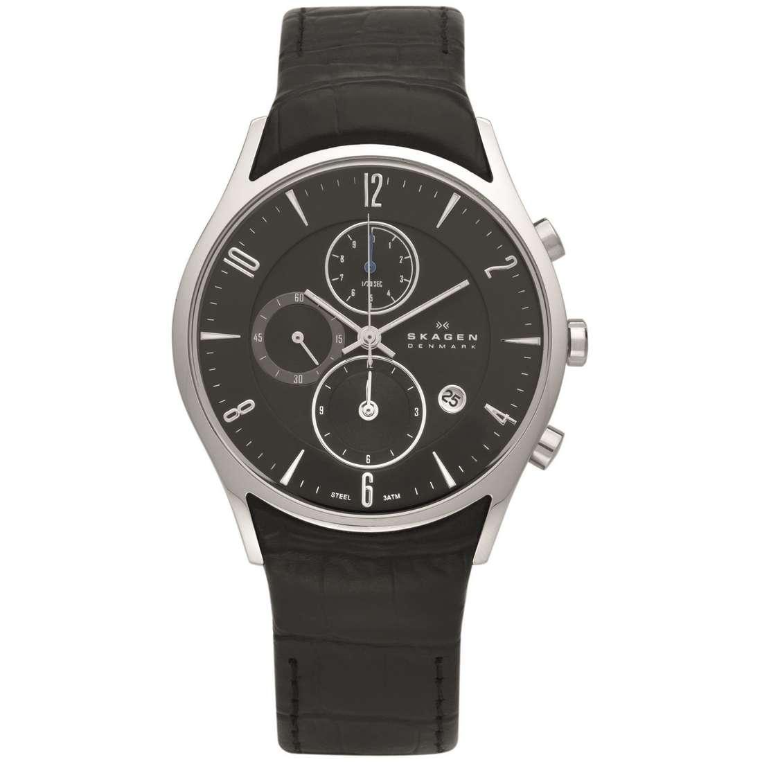 montre chronographe homme Skagen 329XLSLB