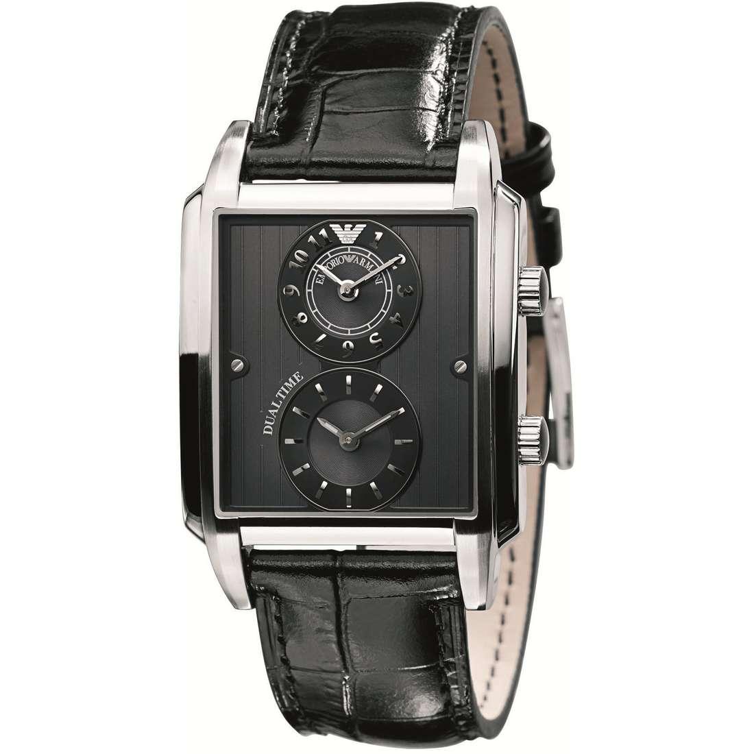 montre dual time homme Emporio Armani AR0476