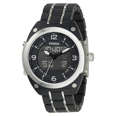 montre dual time homme Fossil BQ9381