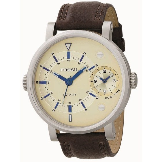 montre dual time homme Fossil FS4338