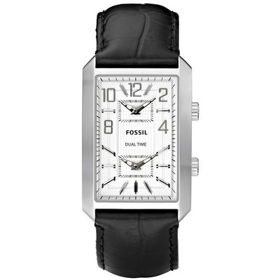 montre dual time homme Fossil FS4577