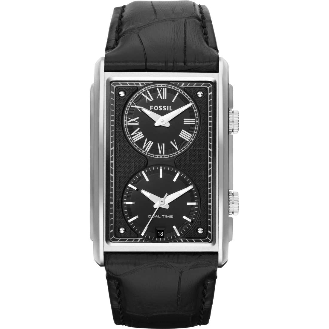 montre dual time homme Fossil FS4782