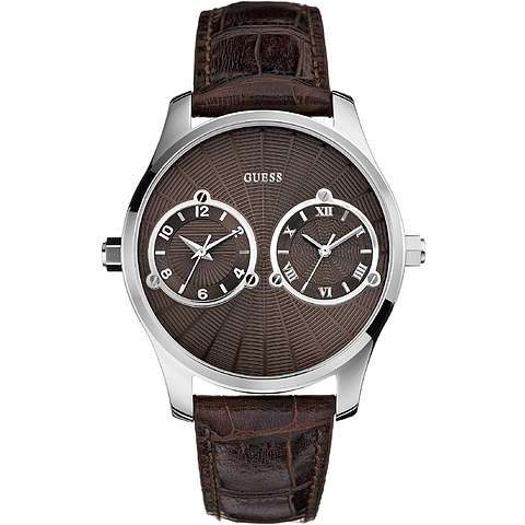 montre dual time homme Guess W70004G1