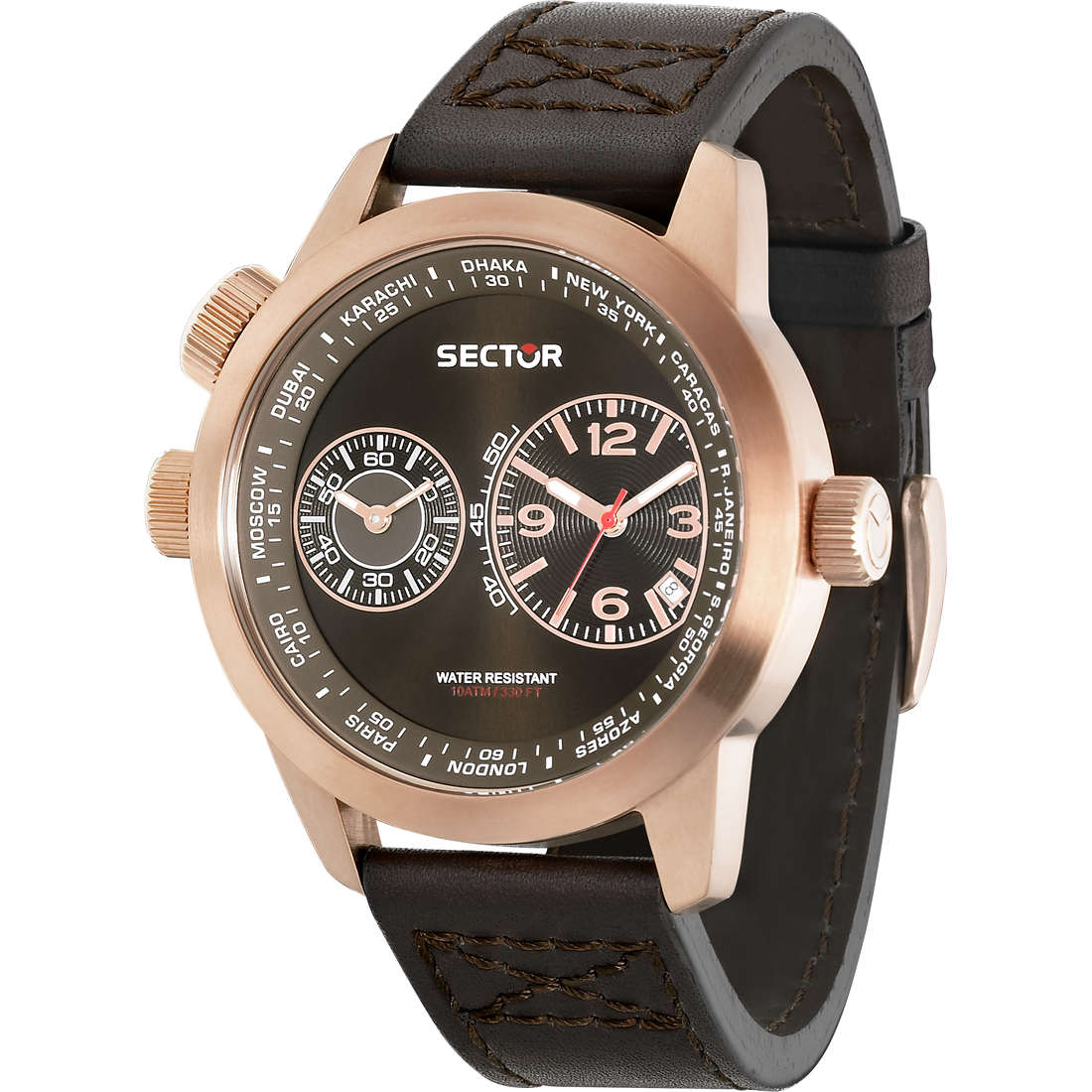 montre dual time homme Sector Oversize R3251102022