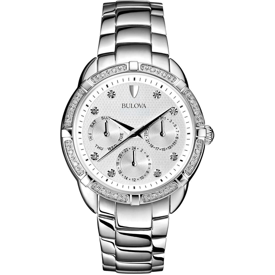 montre multifonction femme Bulova Diamanti 96W195