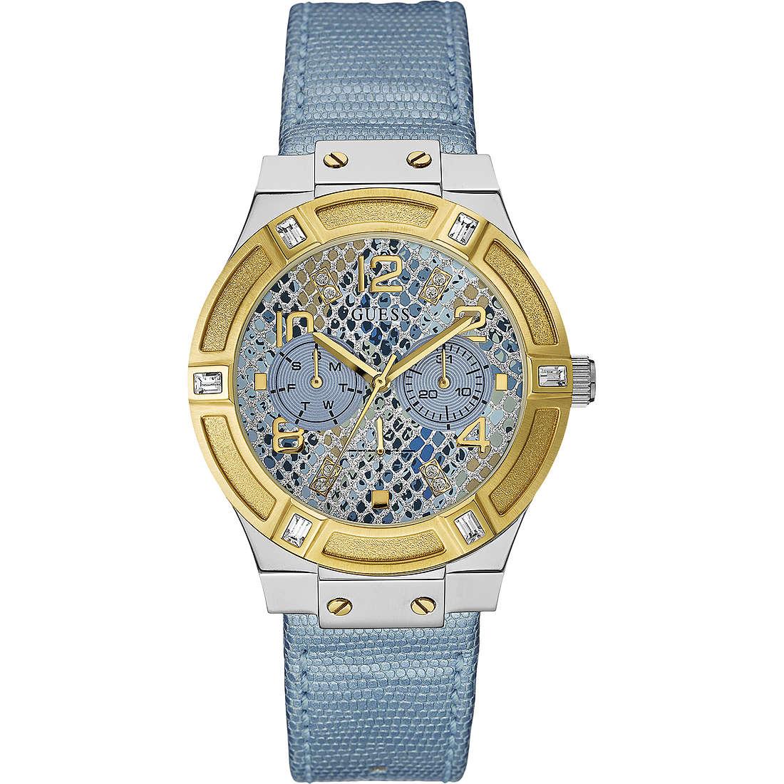 montre multifonction femme Guess Ice Blue W0289L2
