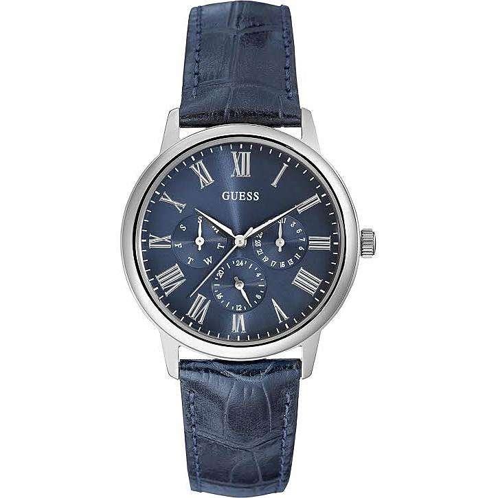 montre multifonction homme Guess Blue Blue W0496G3