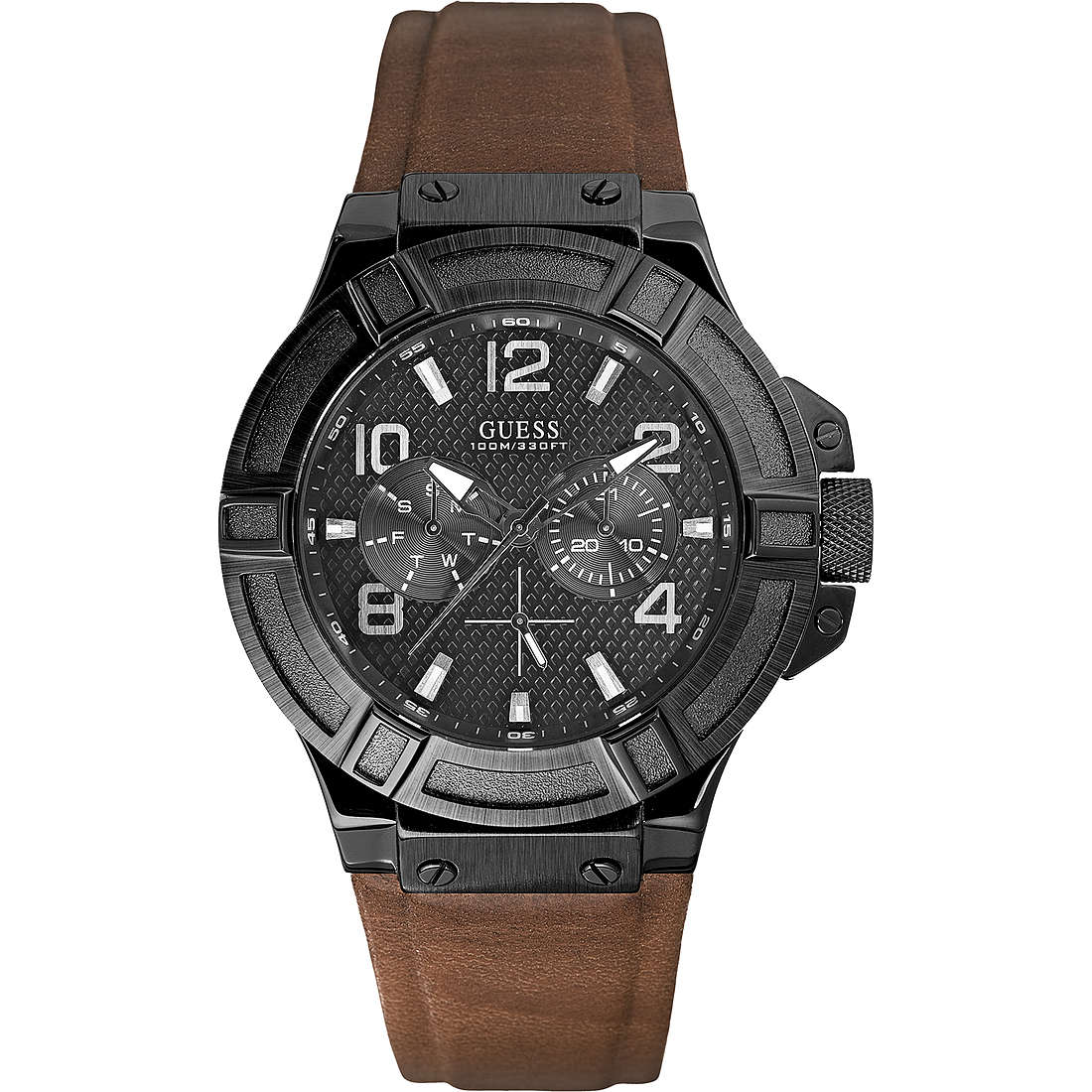 montre multifonction homme Guess Rigor W0040G8