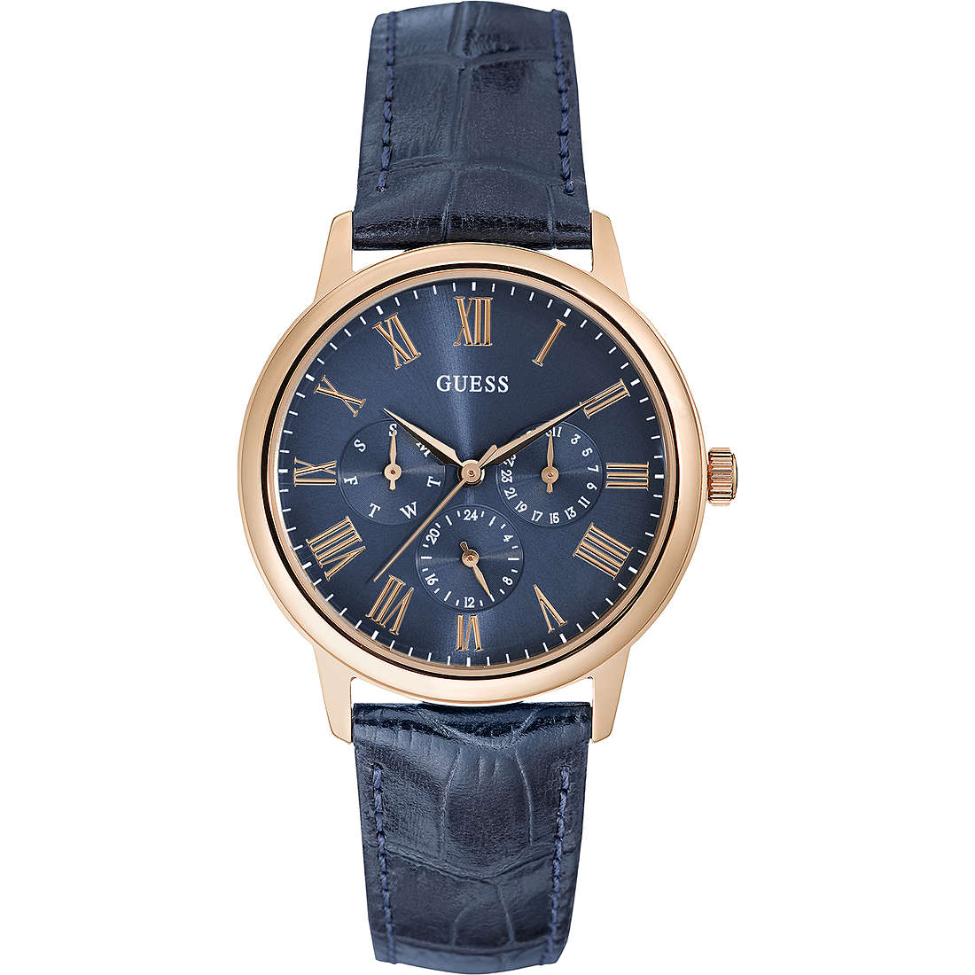 montre multifonction homme Guess Rose Gold W0496G4
