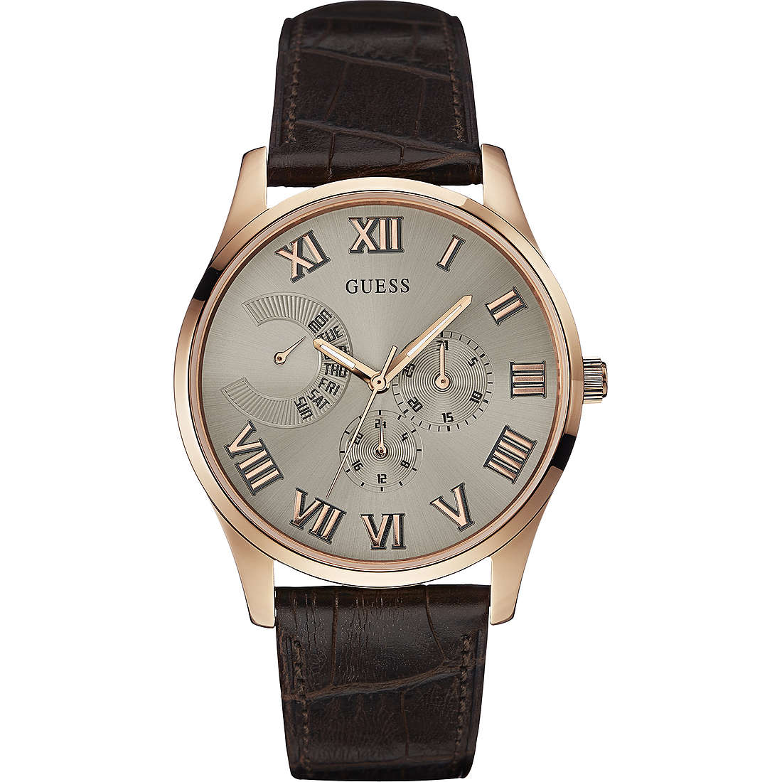 montre multifonction homme Guess Rose Gold W0608G1
