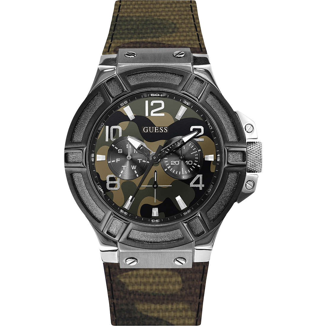 montre multifonction homme Guess W0407G1
