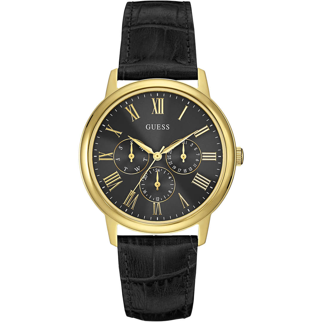 montre multifonction homme Guess Wafer W0496G5