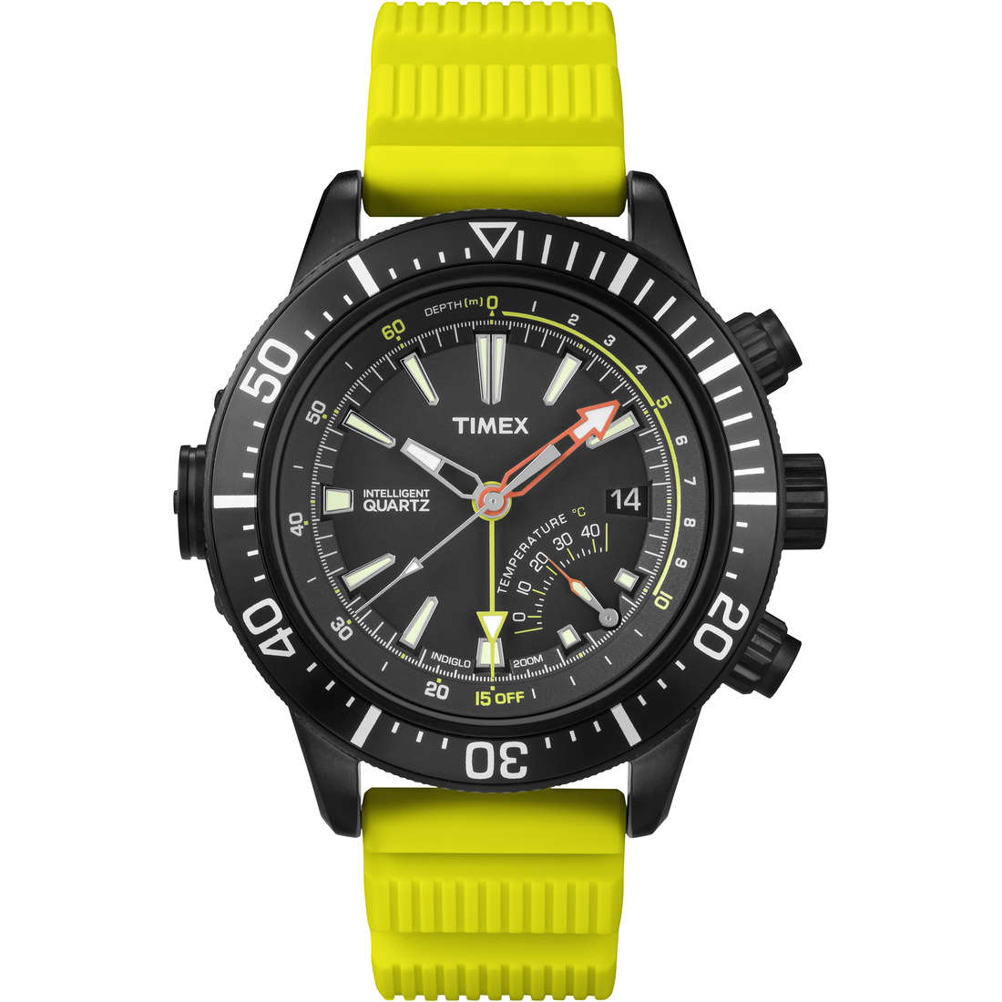 montre multifonction homme Timex Iq Profondimetro T2N958