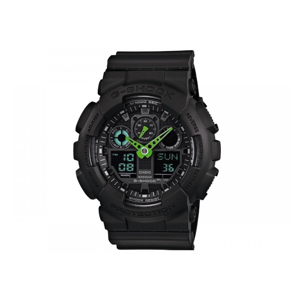 montre multifonction unisex Casio G-SHOCK GA-100C-1A3ER