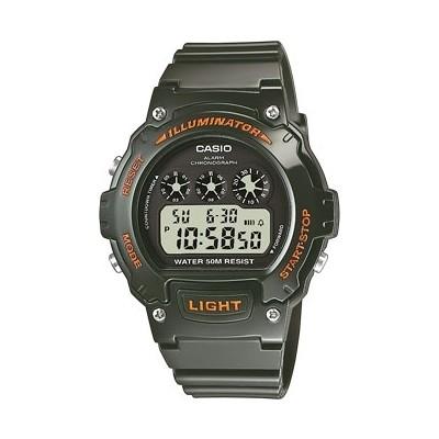 montre numérique homme Casio CASIO COLLECTION W-214HC-3AVEF