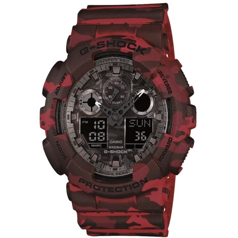 montre numérique homme Casio G-SHOCK GA-100CM-4AER