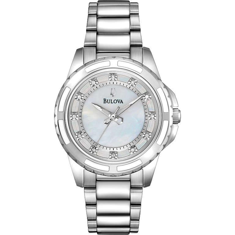 montre seul le temps femme Bulova Diamanti 96P144