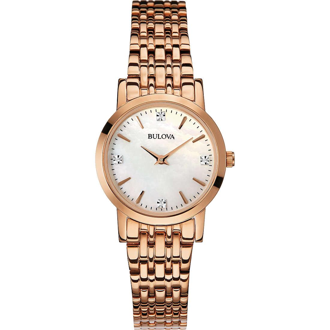 montre seul le temps femme Bulova Diamanti 97P106