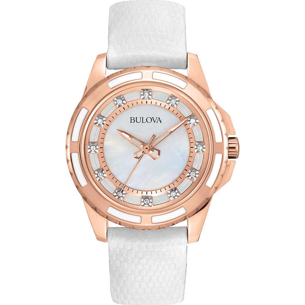 montre seul le temps femme Bulova Diamanti 98P119