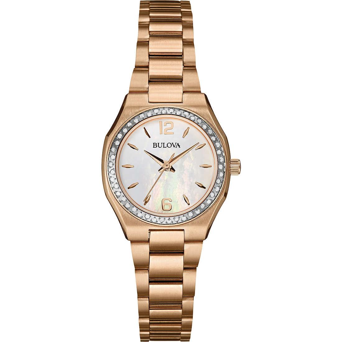 montre seul le temps femme Bulova Diamanti 98R205