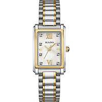 montre seul le temps femme Bulova Diamond Gallery 98P144