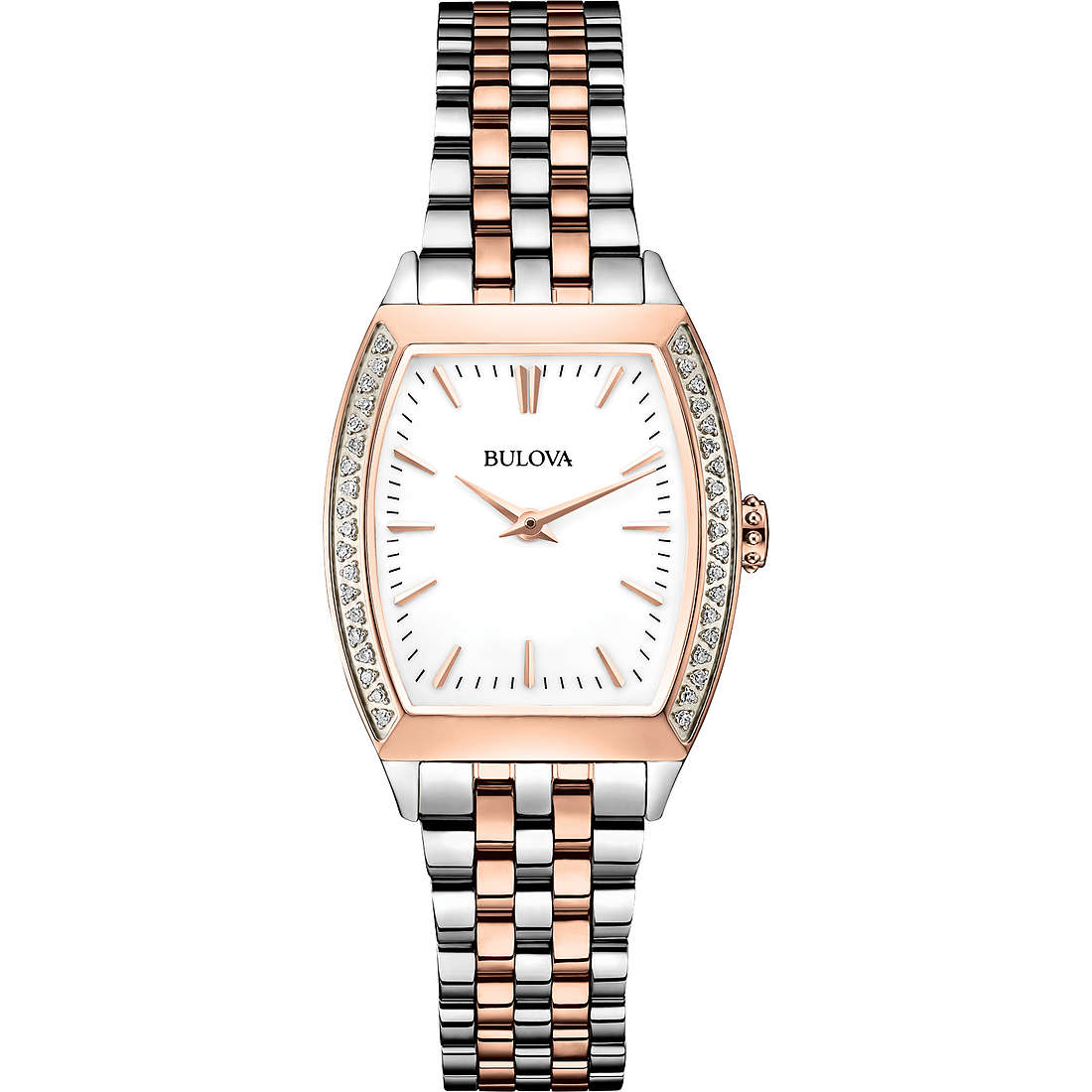 montre seul le temps femme Bulova Diamond Gallery 98R200
