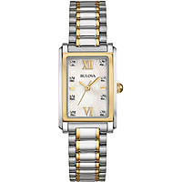 montre seul le temps femme Bulova Diamond Gallery 98S144
