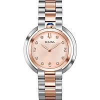 montre seul le temps femme Bulova Diamonds Rubyat 98P174