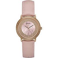 montre seul le temps femme Guess Sparkling Pink W0032L7