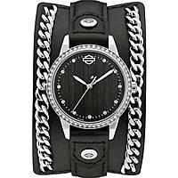 montre seul le temps femme Harley Davidson Chain Cuff 76L184