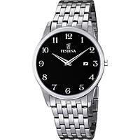 montre seul le temps homme Festina Acero Clasico F6833/4