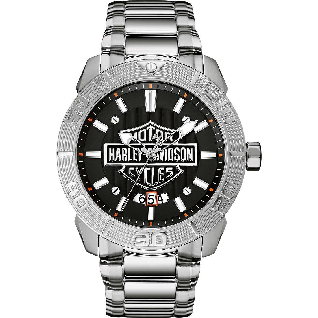montre seul le temps homme Harley Davidson 76B169