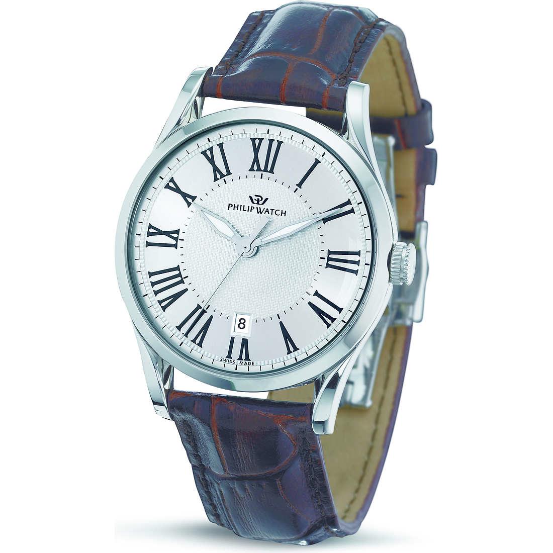 montre seul le temps homme Philip Watch Sunray R8251180003