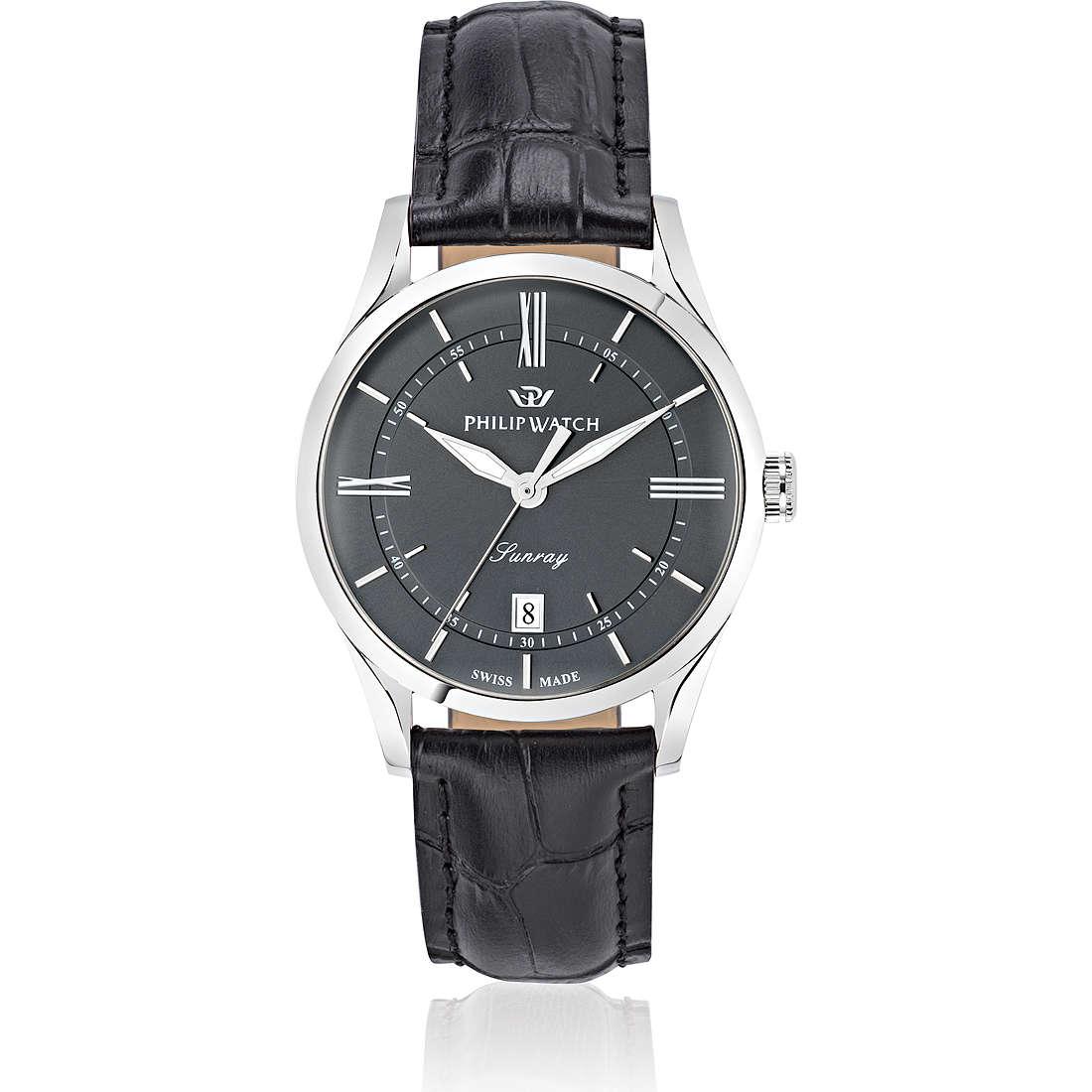 montre seul le temps homme Philip Watch Sunray R8251180007
