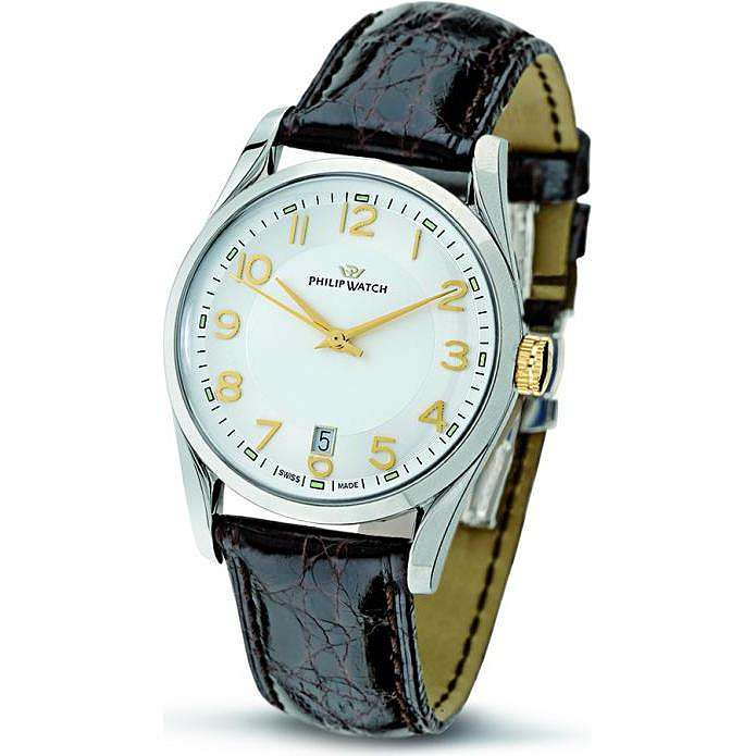 montre seul le temps homme Philip Watch Sunray R8251680002