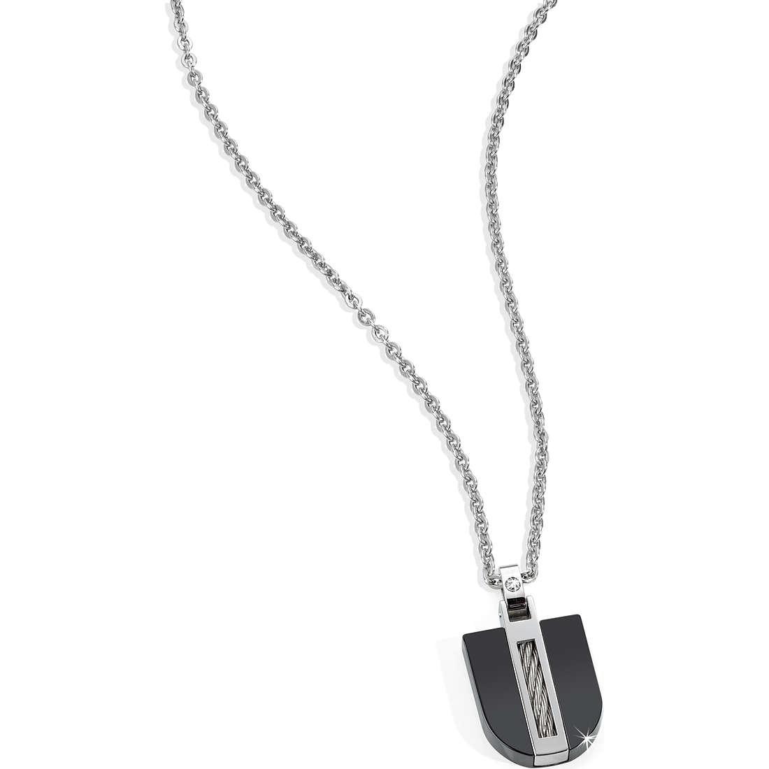 necklace man jewellery Morellato Black & White SKK07