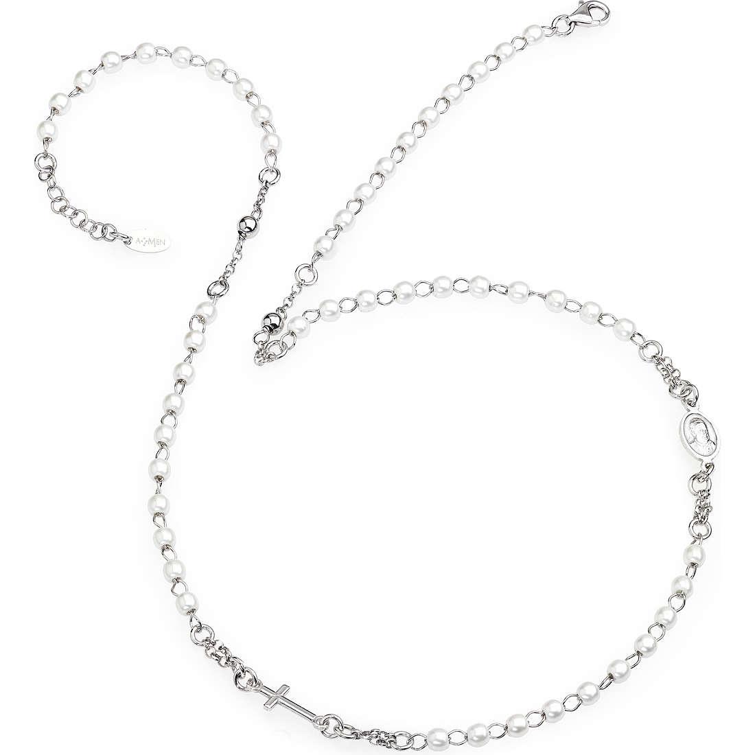 necklace woman jewellery Amen Rosario CROBB3
