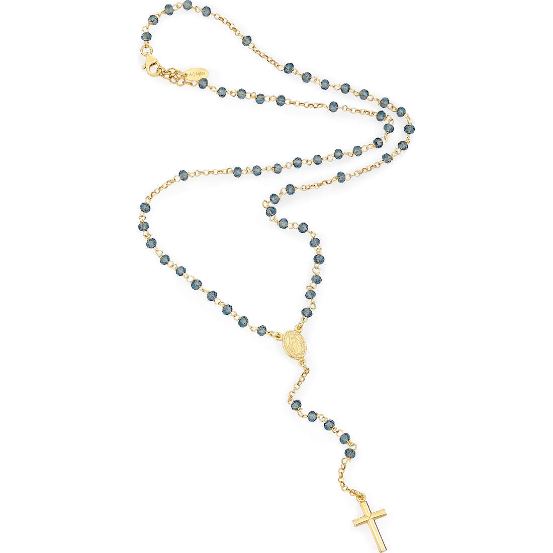 necklace woman jewellery Amen Rosario CROGBL4