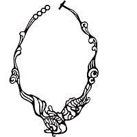 necklace woman jewellery Batucada Fish BTC12-08-01-02