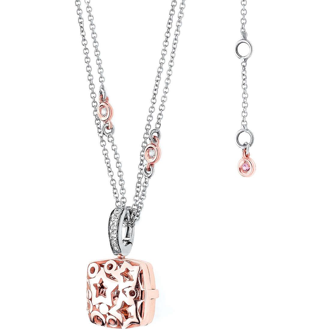 necklace woman jewellery Comete Pietre preziose colorate GLB 786