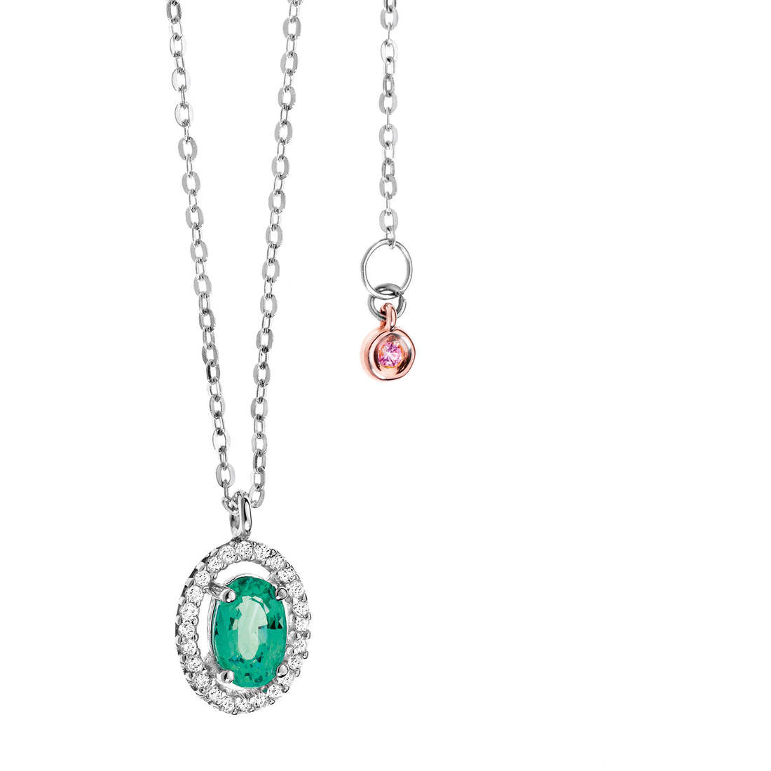 necklace woman jewellery Comete Pietre preziose colorate GLB 823