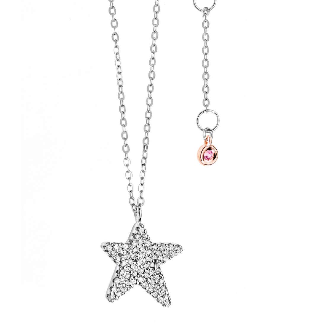 necklace woman jewellery Comete Pietre preziose colorate GLB 842