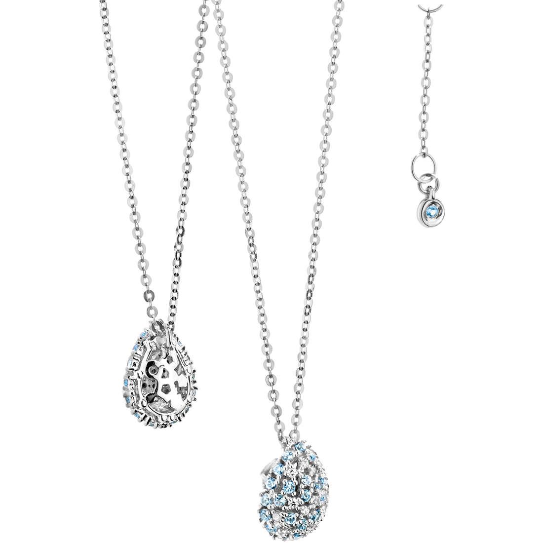necklace woman jewellery Comete Pietre preziose colorate GLB 912