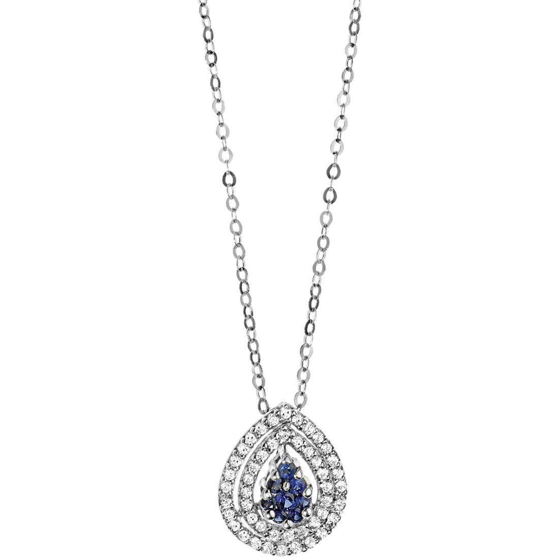 necklace woman jewellery Comete Pietre preziose colorate GLB 951