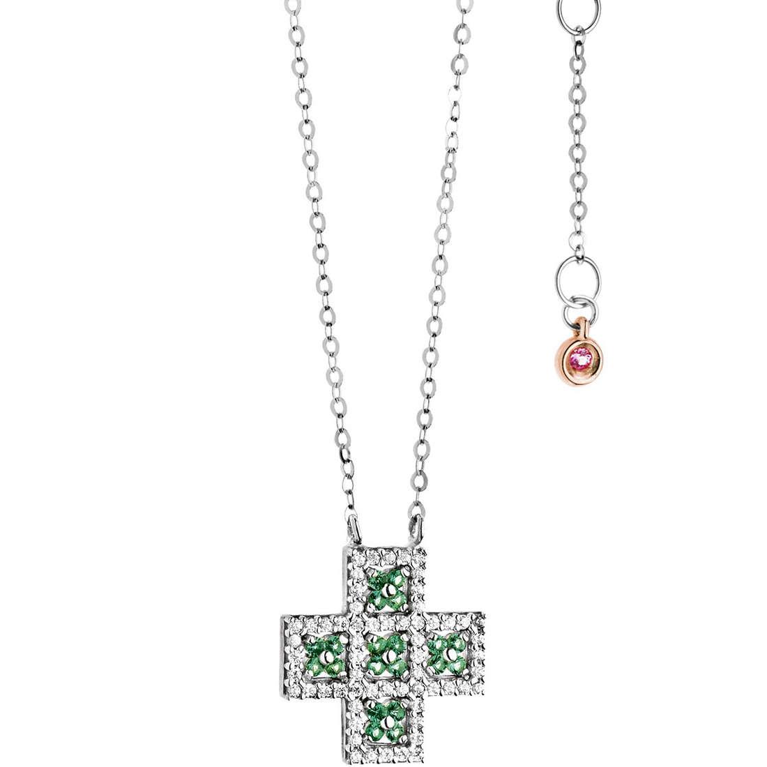 necklace woman jewellery Comete Pietre preziose colorate GLB 967