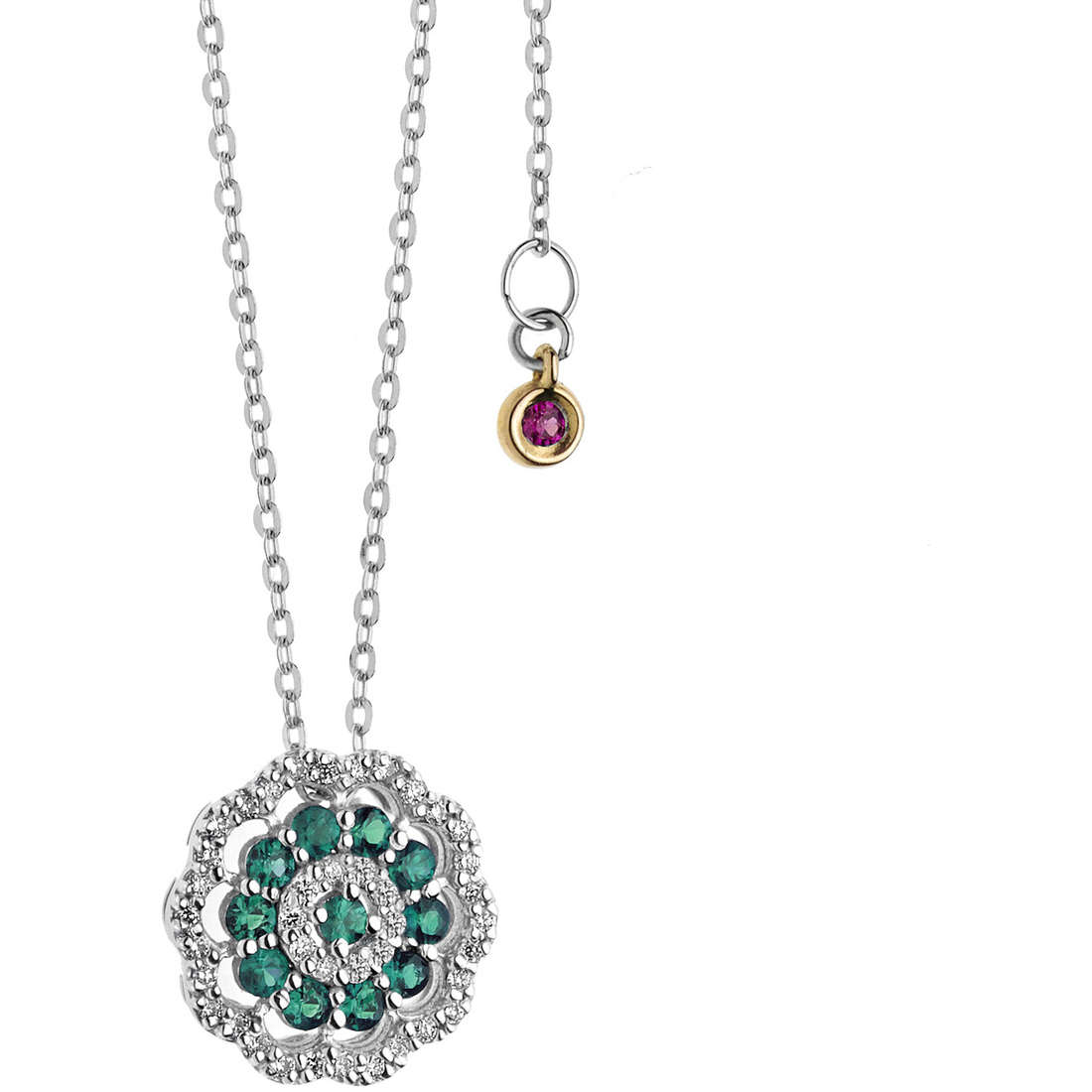 necklace woman jewellery Comete Rose di diamanti GLB 1106