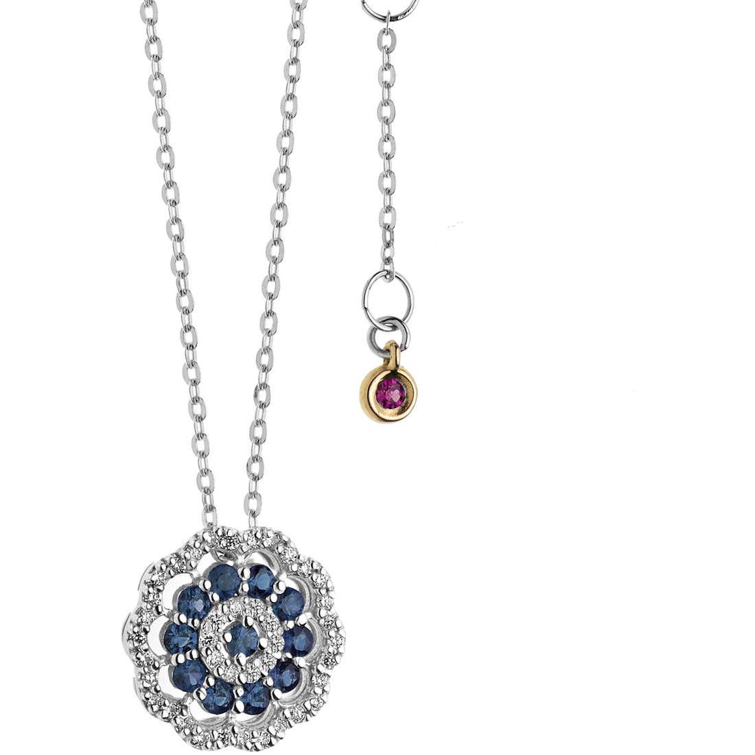 necklace woman jewellery Comete Rose di diamanti GLB 1108
