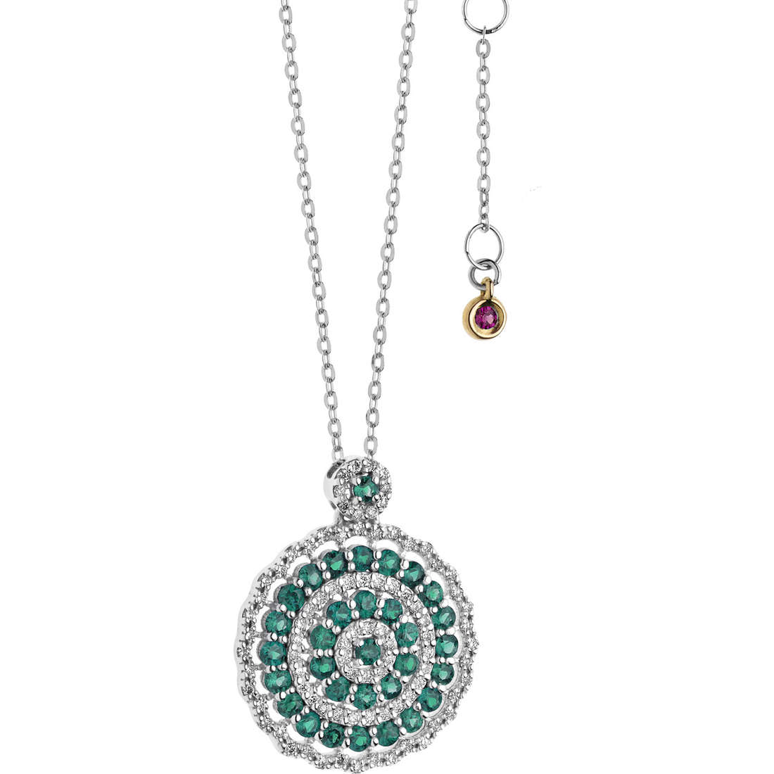 necklace woman jewellery Comete Rose di diamanti GLB 1109